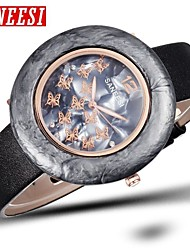 Mujer Reloj de Moda Cuarzo Banda Mariposa Marca-