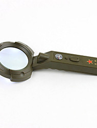 Outdoor Multifunction Illuminated Magnifier Magnifier Remote Lighting Flashlight, Compass Integrated Magnifier