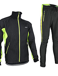 ARSUXEO® Cycling Jacket with Pants Men's Long Sleeve BikeBreathable / Thermal / Warm / Windproof / Anatomic Design / Fleece Lining /