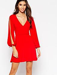 Women's Solid  Dress(cotton)