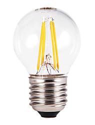 5W E26/E27 Ampoules Globe LED G60 4 COB 350-550 lm Blanc Chaud AC 100-240 V 5 pièces