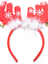 Christmas Feather Antlers Bell Hair Ornament