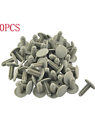 50 Pcs Auto Car 19mm Head Dia Push in Plastic Rivets Car Door Panel Retainer Fastener