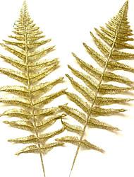 de tres árboles de Navidad de oro halle hoja de la decoración de dos de un conjunto de
