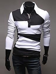 Informeel Shirt Kraag - MEN - T-shirts ( Acryl / Organisch Katoen )met Lange Mouw