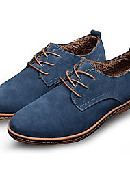 Bigs Size 38-48 Cotton Shoes Men's Shoes Office & Career / Party & Evening / Casual Suede Oxfords Black / Blue / Brown