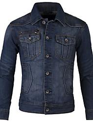 Men's Fashion Multi-pocket Water Washed Jeans Jacket
