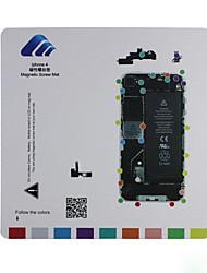 estera tornillo guía almohadilla reparación técnico magnética para el iphone 4