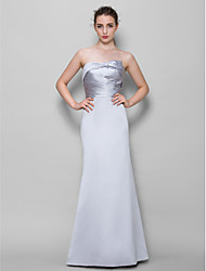 Lanting Bride® Floor-length Satin Bridesmaid Dress - Trumpet / Mermaid Strapless with Criss Cross