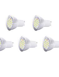 5pcs 8w gu10 16xsmd5630 650lm chaude lumière blanche / froid led ampoules spot (220v)