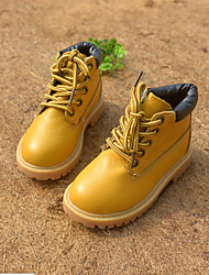 Winter Children Shoes Outdoor / Casual Leather Fashion Boots Black / Yellow