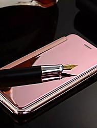 Pour Coques iPhone 6 Plus Plaqué Miroir Clapet Coque Coque Intégrale Coque Couleur Pleine Dur Métal pour iPhone 6s Plus/6 Plus iPhone 6s/6