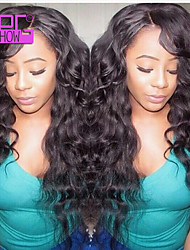 10-28inch In Stock Fashion Body Wave Natural Color Brazilian Human Hair Full Lace Wig
