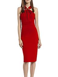 Women's Solid  Dress (cotton)