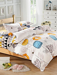 Mingjie® Blue and Yellow Cartoon Flowers Queen and Twin Size Sanding Bedding Sets 4pcs for Boys and Girls China