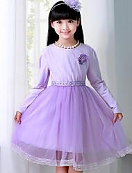 Girls Dresses Princess Wedding Long Sleeve Lace Dress Kids Party Dress