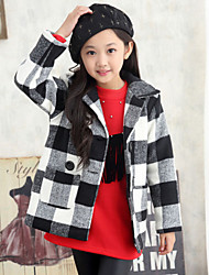 Girl's Black / Red Jacket & Coat , Check Polyester Winter / Spring / Fall
