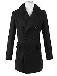 Men's Pan Collar Coats & Jackets , Tweed Long Sleeve Casual / Work Fashion Winter Wshgyy