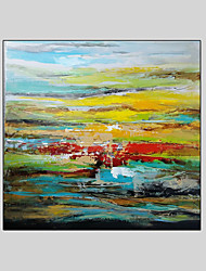Modern Abstract Hand Painted Oil Painting on Canvas with Frame