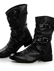 Men's Shoes Amir New Fashion Hot Sale Office & Career / Party & Evening Leather Martin Boots Black
