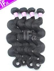 4pcs / lot vague de corps de poils non transformés humaine de cheveux Peruvian Pérou tissage couleur naturelle
