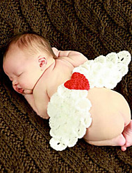 Newborn baby Angel Wings Handmade Knitting Fisherman Photography Props Photo