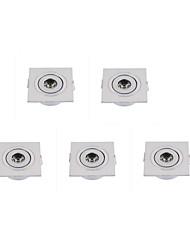 3W Lampes Encastrées 1 LED Haute Puissance 250 lm Blanc Chaud / Blanc Froid Gradable AC 100-240 / AC 110-130 V 5 pièces
