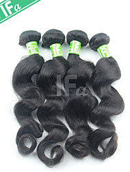 4Pcs/Lot Indian Natural Color 1B Hair Loose Wave Human Hair Extension 12-30 Inch Hair Bundles
