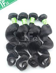 4Pcs/Lot Indian Natural Color 1B Hair Loose Wave Human Hair Extension 12-30 Inch Hair Bundles