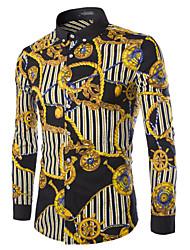 Men's Shirt Collar Casual Shirts , Cotton Blend Long Sleeve Casual Pocket All Seasons L-WARM