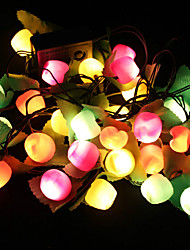 2pcs 28 LED-Laterne 7 Arten von Lichtern wechselnden Parteieffekt Obst-Lampen