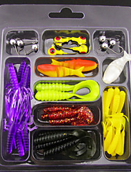 1 pcs Leurre souple leurres de pêche Têtes plombées Leurre souple Kits de leurre Violet g/Once mm pouce,Plastique souple PlombPêche en