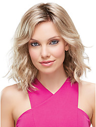 Capless Blonde Color Medium Length High Quality Natural curly Hair Synthetic Wig cosplay