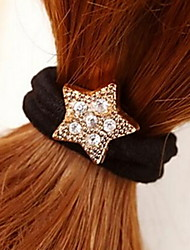 Pentagon Star Rhinestone Hair Ties Jewelry