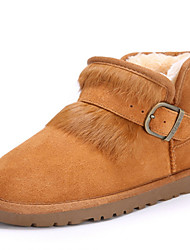 Women's Shoes Suede Flat HeelCowboy / Western Boots / Snow Boots / Riding Boots / Fashion Boots / Motorcycle Boots /