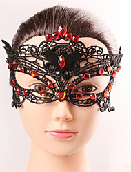 Halloween Fashion Sexy Red Diamond  Black Lace Mask  Eye Wear