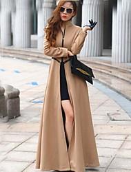 Mulheres Casaco Casual Tweed Manga Longa Mulheres