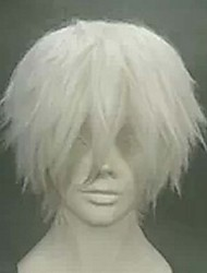 Anime Men Wig COS Silvery White Turned Up in Europe And The Wig