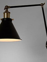 Industrial Nostalgia Personality Loft Black Umbrella Section Double Wall Lamp