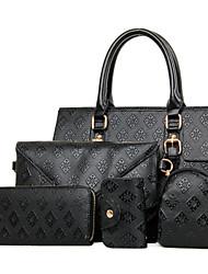 Women PU Tote / Bag Sets White / Blue / Gold / Black