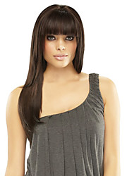 "Stylish Virgin Remy Human Hair Monofilament Top(1"")Long Straight Woman's  Capless Wig"