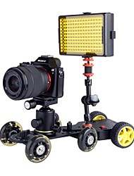 MS01 Motorized Push Cart Dolly Tractor with DW03 Camera Video Slider Dolly Tracker Suit for Cameras Camcorders DVs