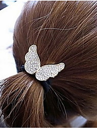 Lovely Diamond Angel Wings Elastic Hair Jewelry Hair Ties