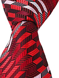 New Black Red White Leisure Silk Tie Men Jacquard Necktie