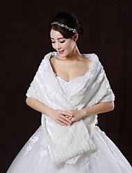 Wedding  Wraps / Fur Wraps Shawls Sleeveless Faux Fur White Wedding / Party/Evening