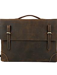 Men Cowhide Formal Shoulder Bag / Tote - Brown