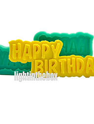 Happy Birthday DIY Silicone Chocolate Pudding Sugar Ice Cake Mold
