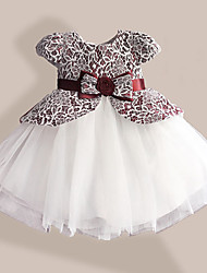 Girls False 2 Pec Dress Flower Bow Tutu Party Christmas Birthday Dancing Princess Children Clothes Dresses