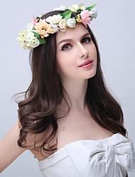 Femme / Jeune bouquetière Polyester / Mousse / Tissu Casque-Mariage / Occasion spéciale / Extérieur Couronnes 1 Pièce