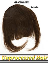1 год гарантии 1шт / много разных цветов Малайзии девственной человеческие волосы челка / fringle